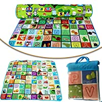 New 200 X 180cm 2 Side Kids Crawling Educational Game Baby Play Mat Soft Foam Picnic Carpet Ground- Bedroom Nursery Waterproof And Humidity Proof Children Comes With a Bag