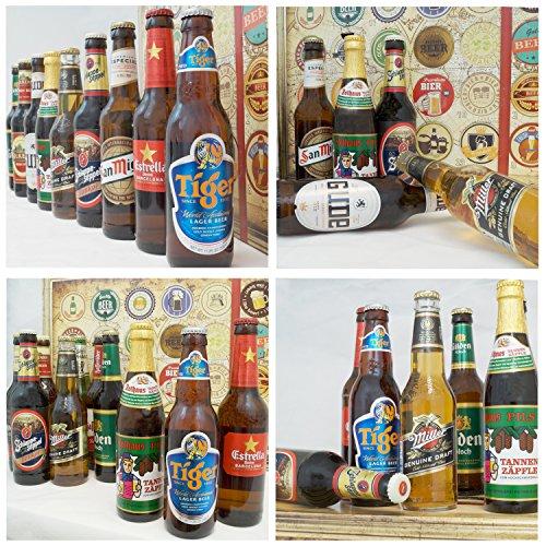 24x Biersorten aus aller Welt + Deutschland | Inkl. Bier Geschenkverpackung + Geschenk Karten Set + Bierbewertungsbogen | Geschenkbox Bier Welt + Deutschlandreise für Männer