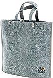 BIKEZAC® Clip-On EINKAUFS-FAHRRADTASCHE | Einseitige Einkaufstasche | Gepäckträgertasche | Faltbar | Wasserabweisend | Trageschlaufen | Ökologisch, BikeZac:Delux Gray