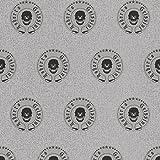 Roberto Geissini Silber Skulls Tapete 492477von Rasch mit Designer Logo Wand einkleistern Vinyl