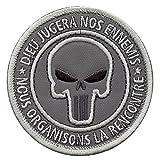 2AFTER1 Dieu Jugera Nos Ennemis Punisher US Navy Seals ACU Subdued DEVGRU NSWDG Morale Sew Iron on Patch