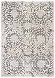 andiamo Teppich Puerto Webteppich Designteppich Kurzfloorteppich Musterteppich – geeignet für den Wohnbereich – Polypropylen-schadstofffrei – 160 x 230 cm, Creme