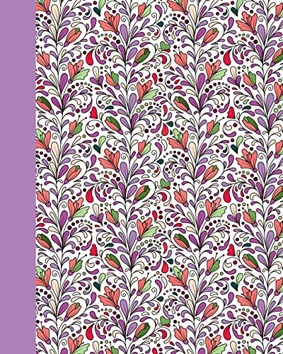 Sketch Journal: Dream Garden (Purple) 8x10 - Pages are LINED ON THE BOTTOM THIRD with blank space on top