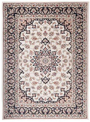 Tapiso tappeto salotto classico – colore beige crema disegno persiano di inspirazione orientale – morbido – facile da pulire – prezzo economico 140 x 200 cm