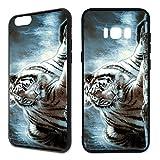 Handyhülle Tiere Samsung Silikon Tiger Wolf Löwe Elephant Pferde Papagei Pferd, Handy:Samsung Galaxy S5 / S5 Neo, Hüllendesign:Design 2 | Silikon Schwarz
