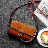 GUANGMING77 Kleine Tasche_Small Bag Mini Kleine Scrub, Karamell Farbe