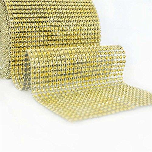 lianggui Diamant Strass Band Wrap DIY Bling für Hochzeit/Geburtstag Dekoration Favor/Arts & Crafts gold (Diamant Band Wrap)