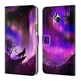 Head Case Designs Purple Howling Wolf Northern Lights