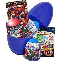 Huevo sorpresa grande con juguetes de Disney, Marvel, Spider-Man y Los Vengadores