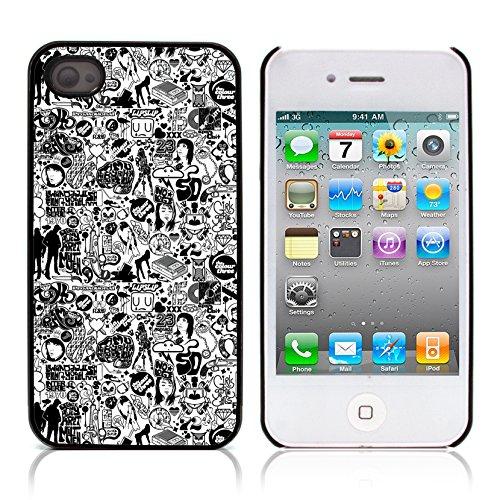 Graphic4You I Love You Message With Flowers Design Harte Hülle Case Tasche Schutzhülle für Apple iPhone 4 und 4S Design #12