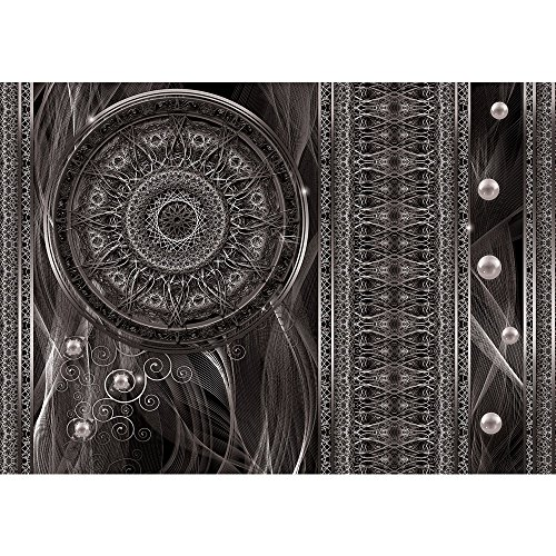 Vlies Fototapete PREMIUM PLUS Wand Foto Tapete Wand Bild Vliestapete - Ornamente Traumfänger Mandala Geflecht Netz Perlen Linien - no. 1525, Größe: 416 x 254cm Vlies