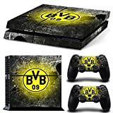 Consoles Ps4 Beste Deals - PS4 Controller Full Skin Sticker Faceplates for PS4 console x 1 and controller x 2 (BVB-9)