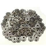 C & C prodotti 100pcs metallo bobine vuote per macchine da cucire Brother, Janome, Singer