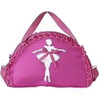 TiaoBug Balletttasche für Mädchen 3 Farben pink, violett, schwarz für Ballett Tanz Fitness Sport Gymnastik Freizeit…
