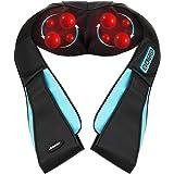 Arealer Schulter Massagegerät Elektrisch für Nacken Rücken Shiatsu Nackenmassagegerät mit Wärmefunktion 3D-Rotation Massage Einstellbaren Geschwindigkeiten für Haus Büro Auto