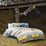 Hiccups Field Days Duvet Cover & Pillowcase Set, Multi, Single