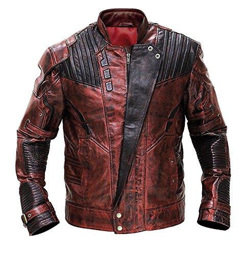 e Genius Herren Daunenjacke Jacke Gr. Medium, rot (Star Leather)