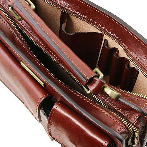 Tuscany Leather - Tania - Sac à main en cuir Marron - TL141270/1 Marron foncé