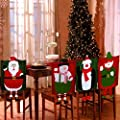Set Of 4 Dangling Feet Assorted Christmas Theme Chair Hat Back Covers Xmas Party Dinner Dining Table Festive Decoration Gift - inexpensive UK light shop.