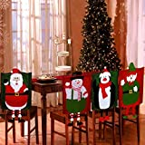 Set Of 4 Dangling Feet Assorted Christmas Theme Chair Hat Back Covers Xmas Party Dinner Dining Table Festive Decoration Gift