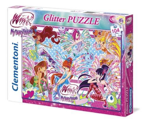Clementoni 20095 - Puzzle Glitter Winx, 104 Pezzi