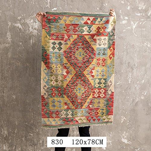 BAGEHUA Maßgeschneiderte Pakistanischen Türkischen Ethnischen Geometrische Wohnzimmer Teppich Matten, Farbe, Blau 830 120 X 78 cm - Türkisch-fell