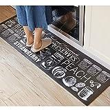 S&Y Tappeto Cucina lungo il tappetino tappetino anti-scivolo impermeabile Pad Anti - incendio dell'olio - tappetini di prova in bianco e nero e BAI lattine Mats