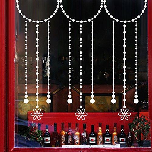 Mddjj Vorhang Aufkleber Weihnachten Glas Einkaufszentrum Storefront Dress up Vorhang Aufkleber ()