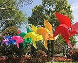 (10 Stück) Lanseed Windspiel Windrad Windspiele Geeingnet für Gärten / Terrassen / Balkone und ebenso ein schönes Spielzeug für Kinder