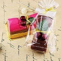 EQLEF® Favori 2 Imposta Frutta Ciliegia swiss roll del tovagliolo torta a forma di GiftsBoxed (Tovagliolo Di Mano Washcloth)