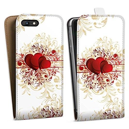 Apple iPhone X Silikon Hülle Case Schutzhülle Silent Love Muster Herz Downflip Tasche weiß