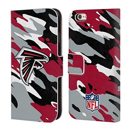 Offizielle NFL Helm Atlanta Falcons Logo Brieftasche Handyhülle aus Leder für Apple iPhone 5 / 5s / SE Camou