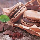 Artland Qualitätsbilder I Glasbilder Deko Glas Bilder 30 x 30 cm Ernährung Genuss Süßspeisen Foto Braun A7EH Macarons mit Schokolade