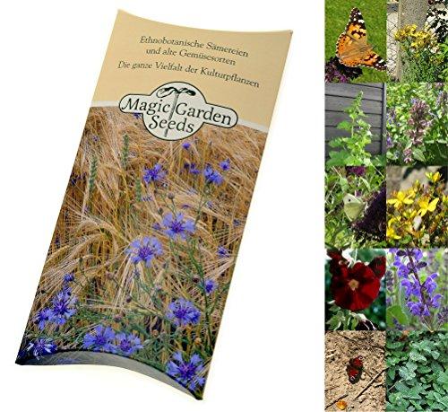 Magic Garden Seeds Saatgut Set: 'Schmetterlingsgarten', 5 nektarreiche Blühpflanzen, die gerne von...