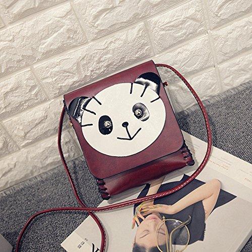 Einzelne Umhängetasche Diagonal Entwicklung Der Koreanischen Cartoon - Dame Hand - Tasche panda weinrot