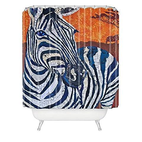 Elizabeth St Hilaire Nelson Zelda Zebra Shower Curtain, 69 x 72