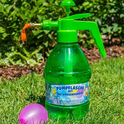 """Pumpflasche mit 300 Wasserbomben 30x18,5x13cm """"Top Qualität"""""""
