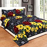 SHOPICTED Cotton Double Bedsheet With Two Xl Pillow Covers Set-cf Queen Size Bedsheet Series-144 Tc