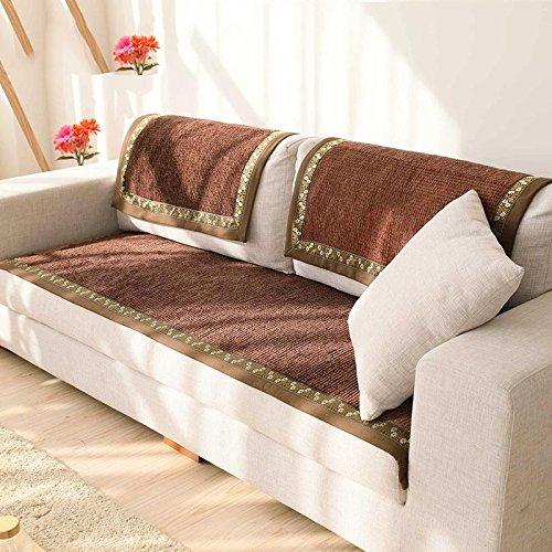 New day®-Europea lusso cuscino del divano moderno semplici cuscini del divano quattro stagioni cuscino del divano , brown , 90*210cm