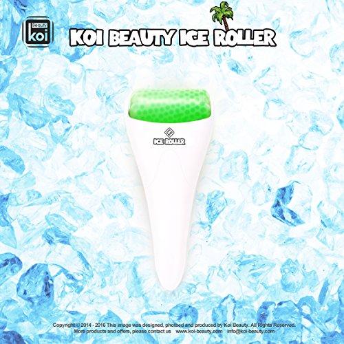 Koi Beauty Derma Haut Ice Walzenkühlung für Gesicht Körpermassage Augen Puffiness Behandlungen und Cold Packs Material Edelstahl Gummi Weiß