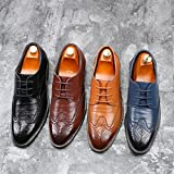 Chaussures Hommes Classique Style Respirant Creux Affaires Occasionnels Pointus Chaussures (43, Noir)