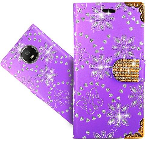 Motorola Moto G5S / Moto G6 Handy Tasche, FoneExpert® Wallet Case Cover Bling Diamond Hüllen Etui Hülle Ledertasche Lederhülle Schutzhülle Für Motorola Moto G5S / Moto G6