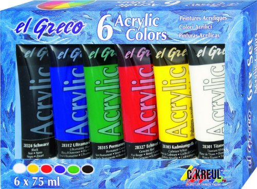 El Greco 28260 - Acrylfarben 6er Set