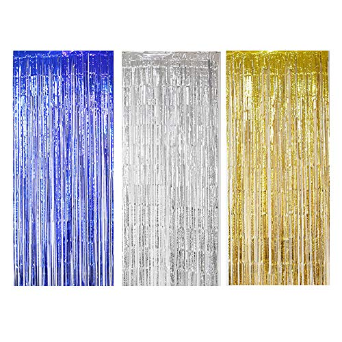 Lezed Foil Fringe Curtain Metallic Photo Booth Tinsel