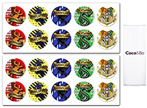 10 x Coco&Bo - Magical Wizarding Hogwarts Houses Party Stickers - Great for Goodie Bags, Invitation or Party Favours - Harry Potter Theme Party Decorations / Accessories