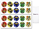 Coco&Bo 10 x Hogwarts Schulhaus Party Aufkleber Harry Potter Thema Dekoration - House Party Stickers