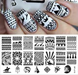 New Aztec Pattern Nail Art Stamp Templat...