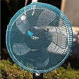 kimberleystore Creative Sommer Fan Staub Cover Baby Kinder Sicherheit Netz–blau