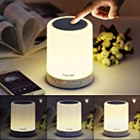 Homecube Bedside Lamp with Bluetooth Speaker, Smart Portable Touch Lamp Mood Night Light, Christmas Valentine Birthday…