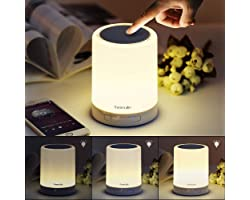 Homecube Bedside Lamp with Bluetooth Speaker, Smart Portable Touch Lamp Mood Night Light, Christmas Valentine Birthday Gifts